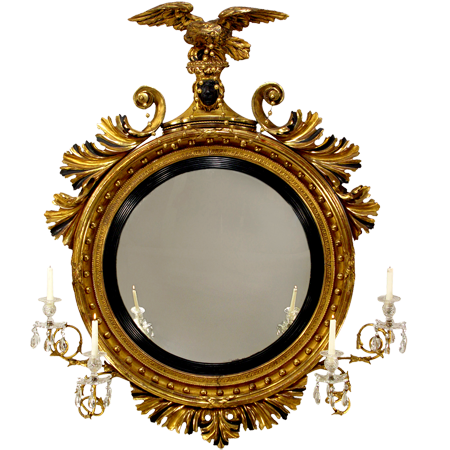 Classical Gilt Wood Girandole Mirror, 1820  1 copy